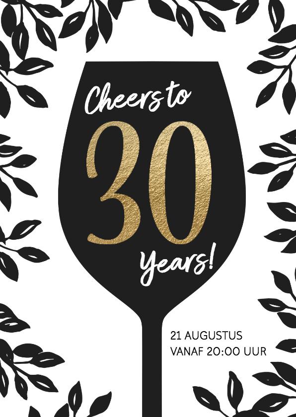 Uitnodigingen - Uitnodiging 30 jaar Cheers