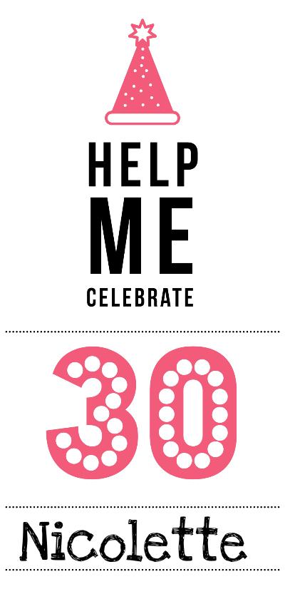 Uitnodigingen - Uitnodiging 30 jaar
