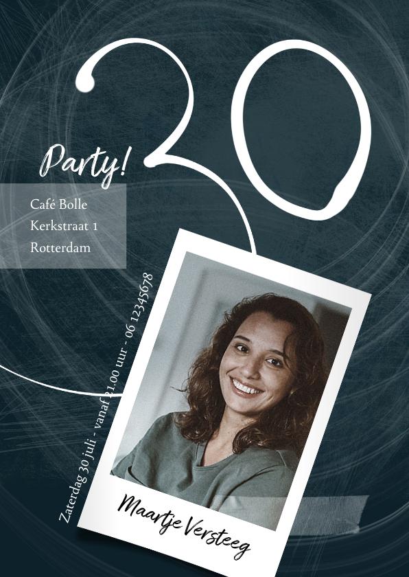 Uitnodigingen - Uitnodiging 30ste verjaardag, donkerblauw met foto