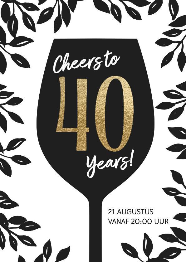 Uitnodigingen - Uitnodiging 40 jaar verjaardag Cheers