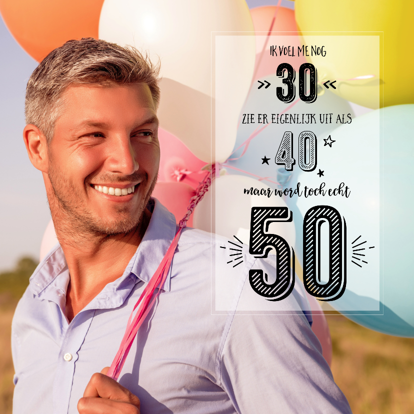 Uitnodigingen - Uitnodiging 50 Abraham/Sarah