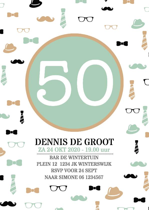 Uitnodigingen - Uitnodiging 50 jaar man av