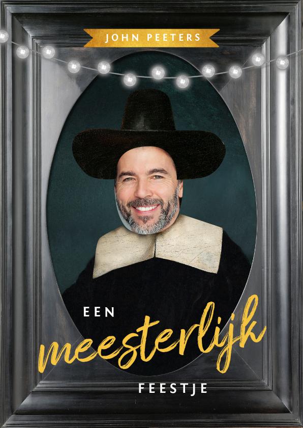 Uitnodigingen - Uitnodiging 50 jaar man schilderij Rembrandt van Rijn