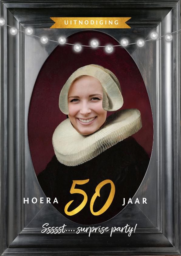Uitnodigingen - Uitnodiging 50 jaar schilderij Rembrandt van Rijn portret