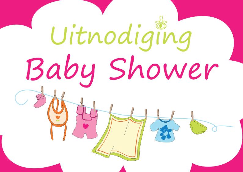 Uitnodigingen - Uitnodiging Babyshower meisje