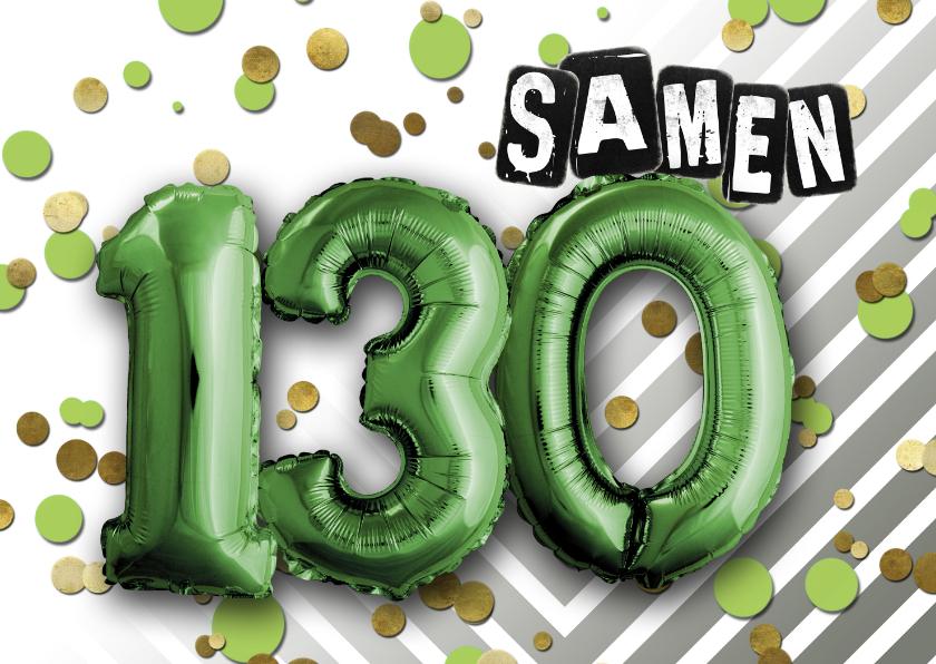 Uitnodigingen - Uitnodiging ballon samen 130