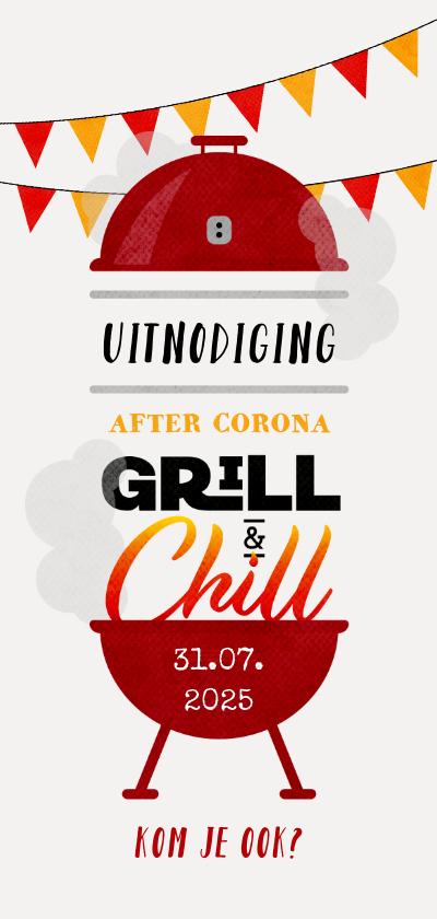 Uitnodigingen - Uitnodiging BBQ tuinfeest after corona feestje