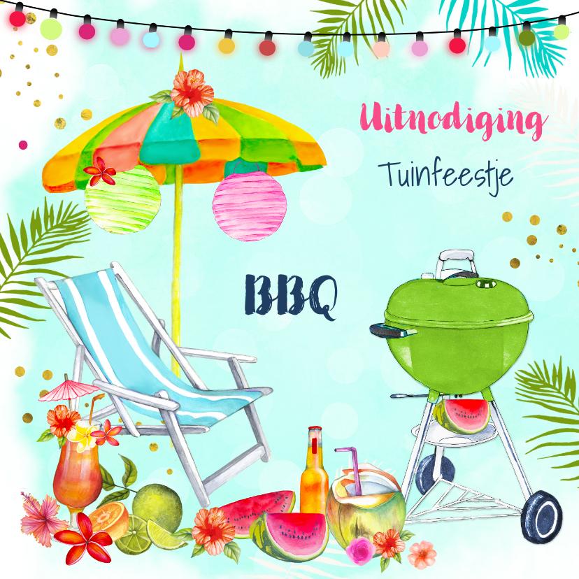 Uitnodigingen - Uitnodiging BBQ tuinfeestje