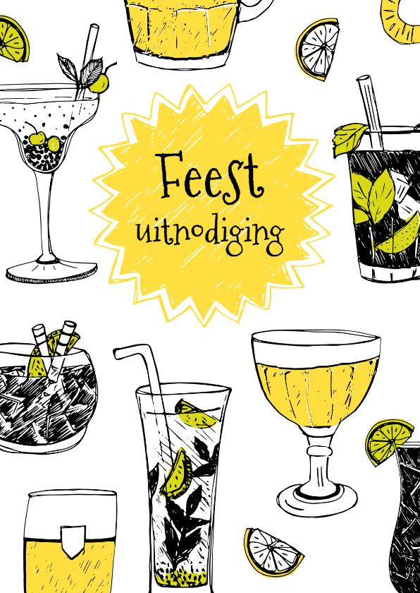 Uitnodigingen - Uitnodiging bier en cocktails