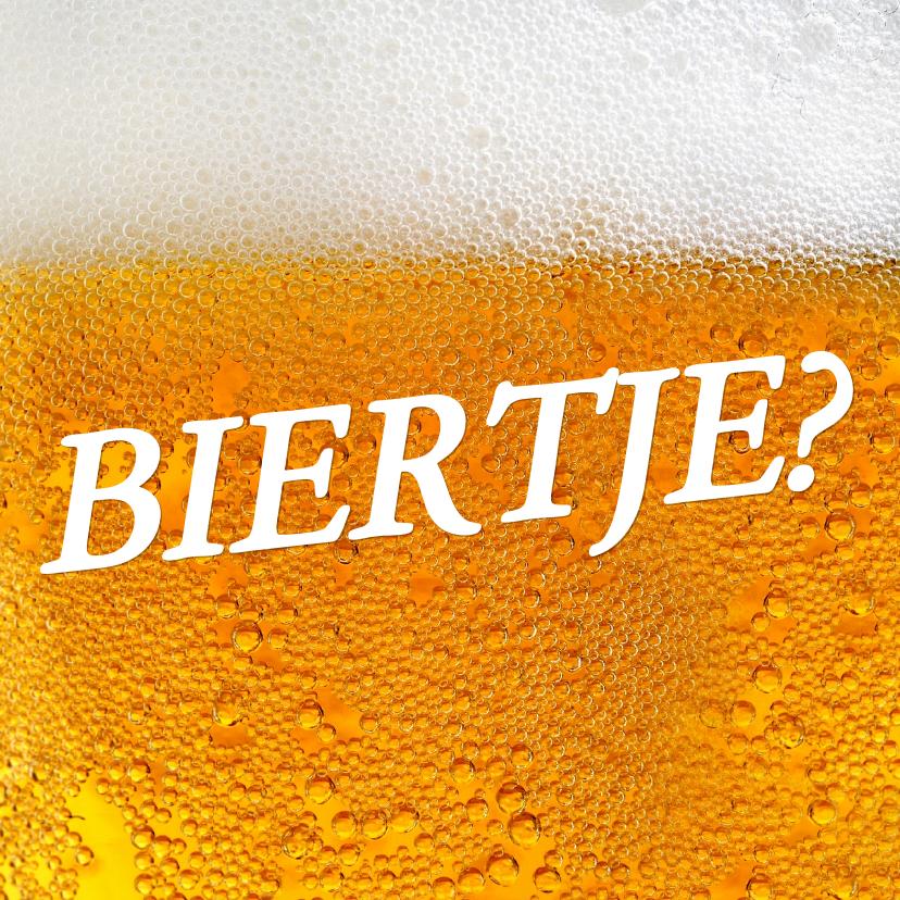 Uitnodigingen - Uitnodiging Biertje