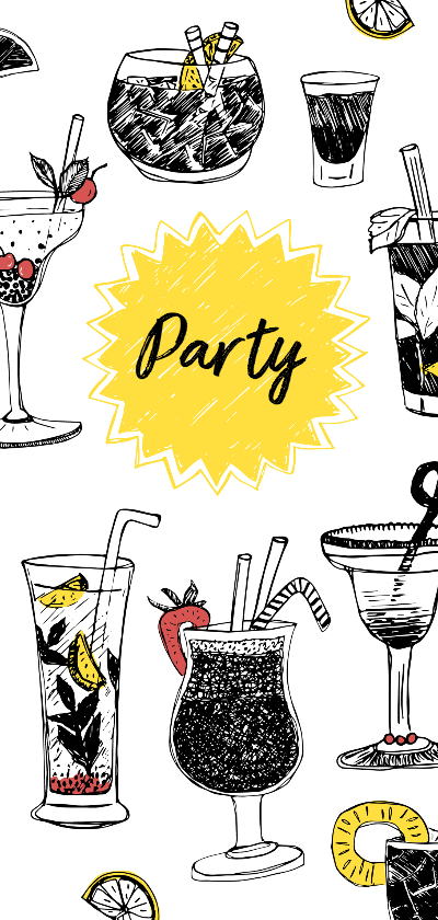 Uitnodigingen - Uitnodiging borrel cocktailparty