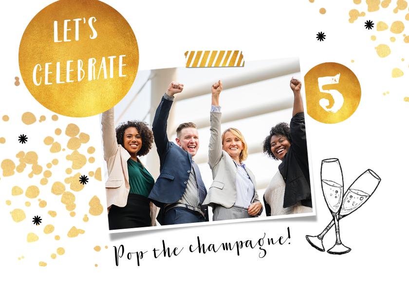 Uitnodigingen - Uitnodiging borrel gelegenheid feestelijk en stijlvol