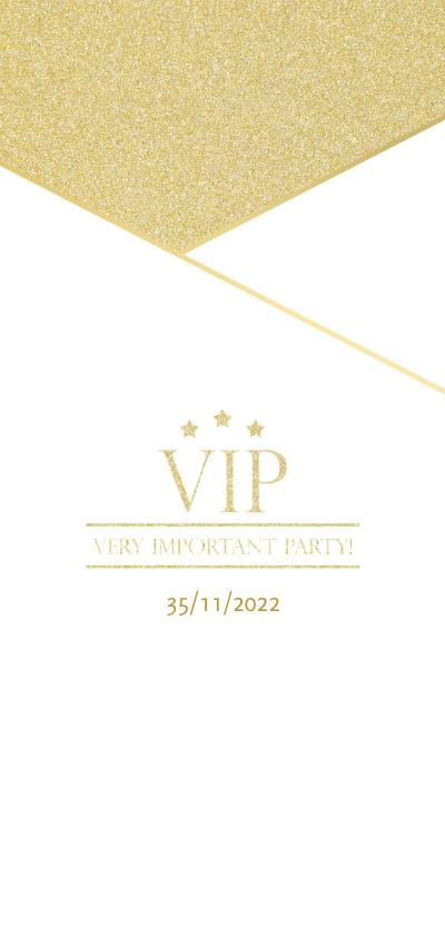 Uitnodigingen - Uitnodiging borrel VIP goud
