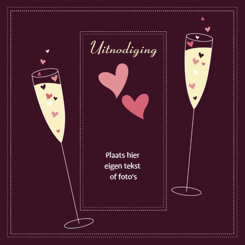 Uitnodigingen - Uitnodiging champagne 1