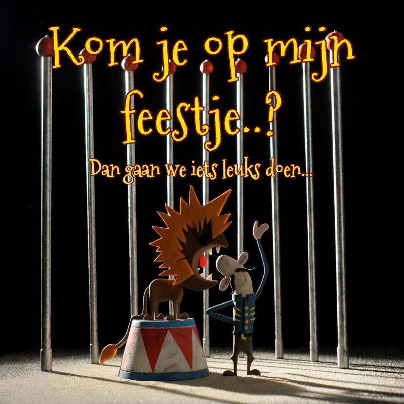 Uitnodigingen - Uitnodiging circus Leeuw