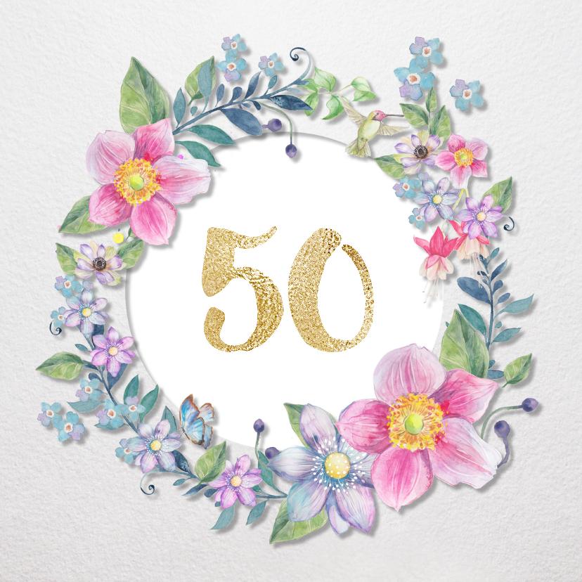 Uitnodigingen - Uitnodiging Clematis 50 jaar
