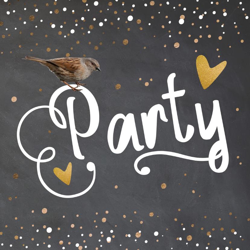 Uitnodigingen - Uitnodiging confetti - LO