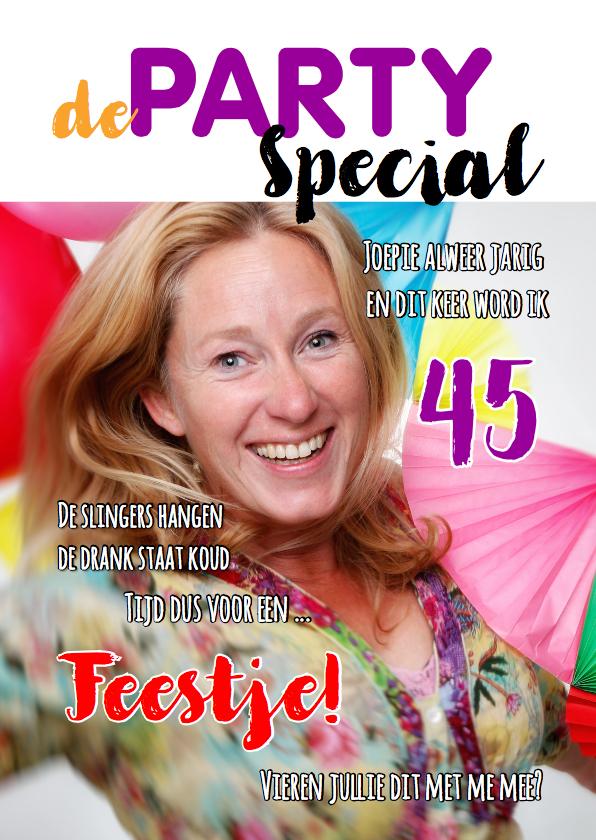 Uitnodigingen - Uitnodiging Cover Magazine Party 1 - OT