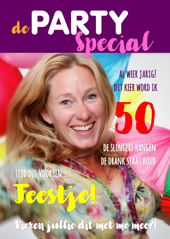 Uitnodigingen - Uitnodiging Cover Magazine Party 2 - OT