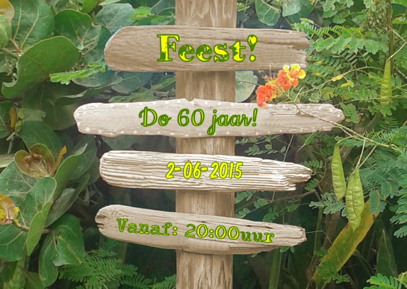 Uitnodigingen - Uitnodiging drijfhout natuur L