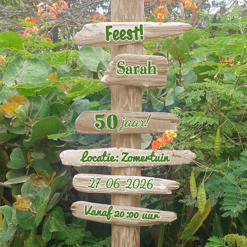 Uitnodigingen - uitnodiging drijfhout natuur
