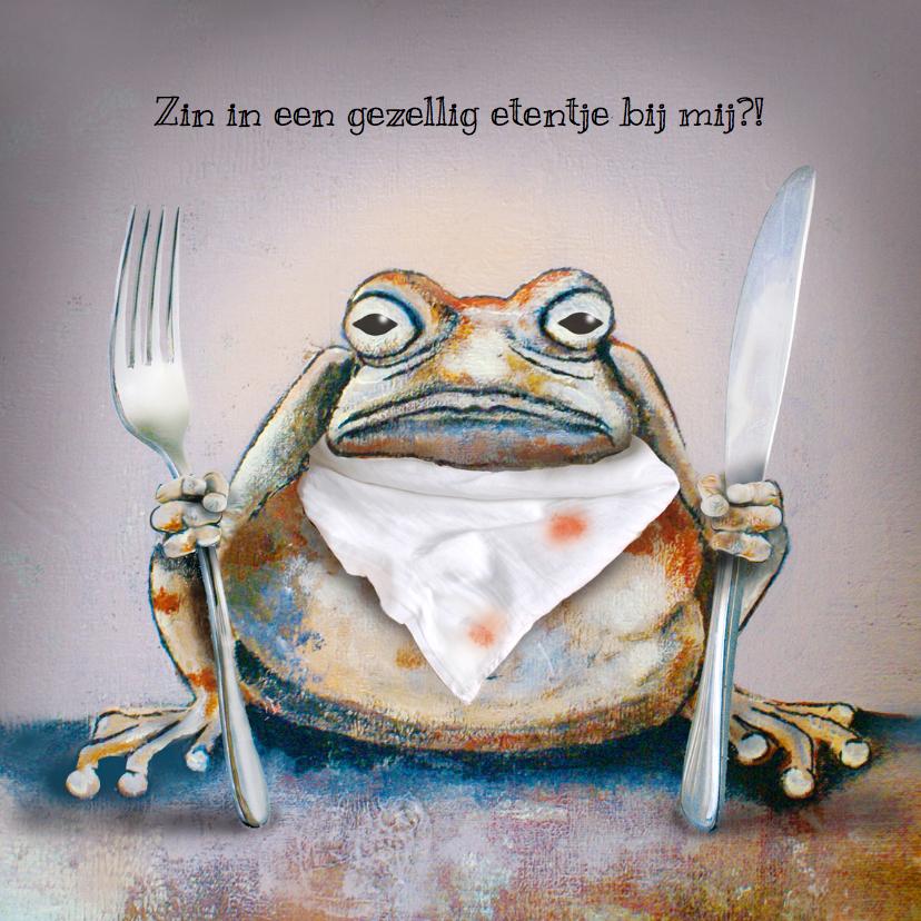 Favoriete Uitnodiging etentje met Brompad - Uitnodigingen - Kaartje2go KI92