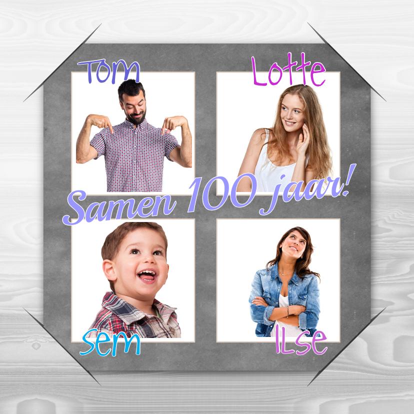 Uitnodigingen - Uitnodiging familie 4x foto a RB