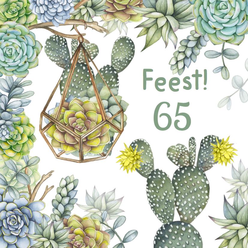 Uitnodigingen - Uitnodiging feest cactus