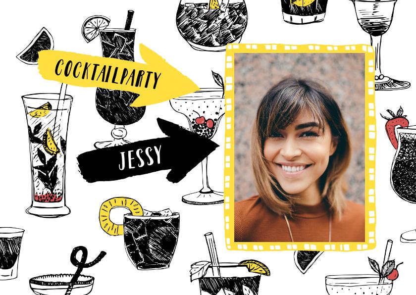 Uitnodigingen - Uitnodiging feest cocktailparty