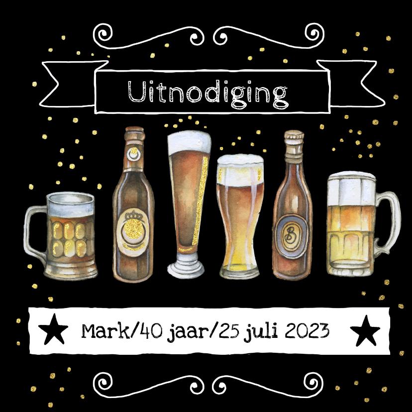 Uitnodigingen - Uitnodiging feestje bier