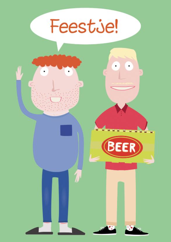 Uitnodigingen - Uitnodiging Feestje met biert!