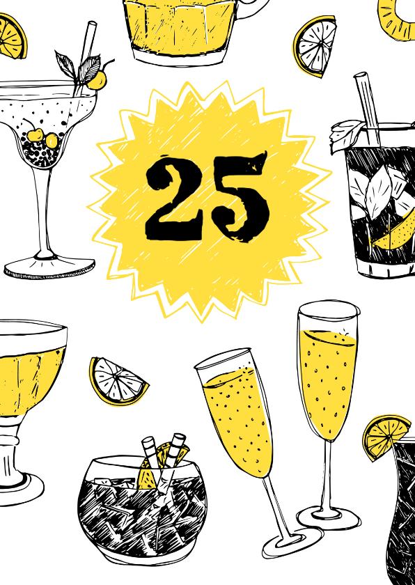 Uitnodigingen - Uitnodiging feestje met drankjes