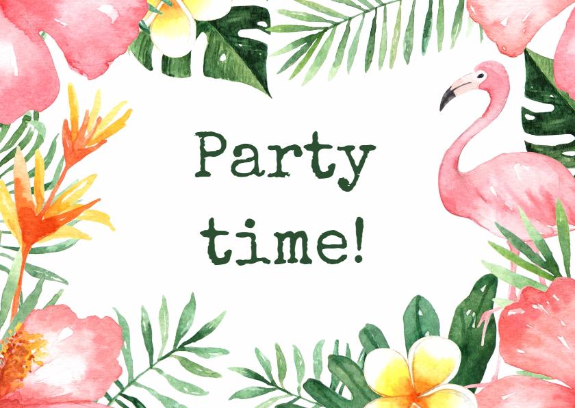 Uitnodigingen - Uitnodiging feestje Tropical - WW
