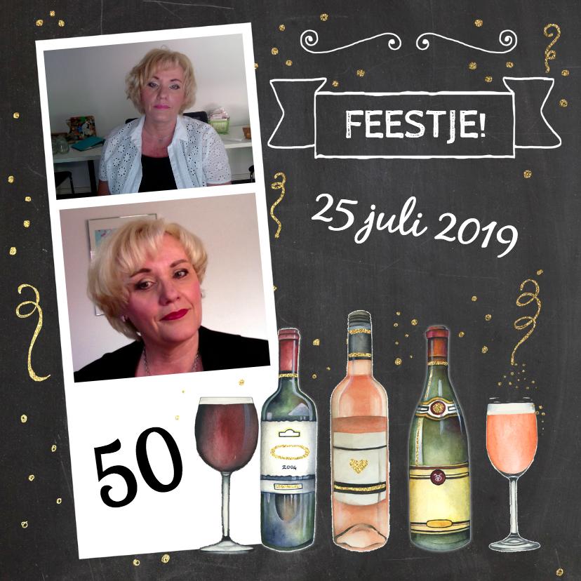 Uitnodigingen - Uitnodiging feestje wijn