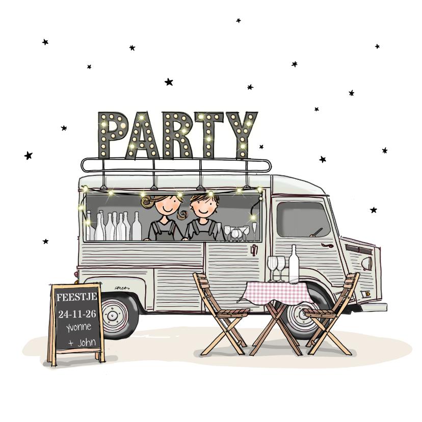 Uitnodigingen - Uitnodiging Foodtruck HY bus