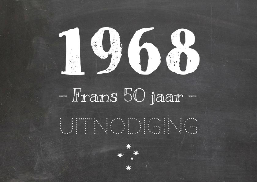 Uitnodigingen - uitnodiging geboortejaar 1967