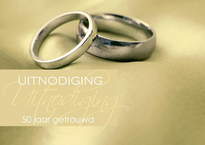 Uitnodigingen - Uitnodiging gouden huwelijk