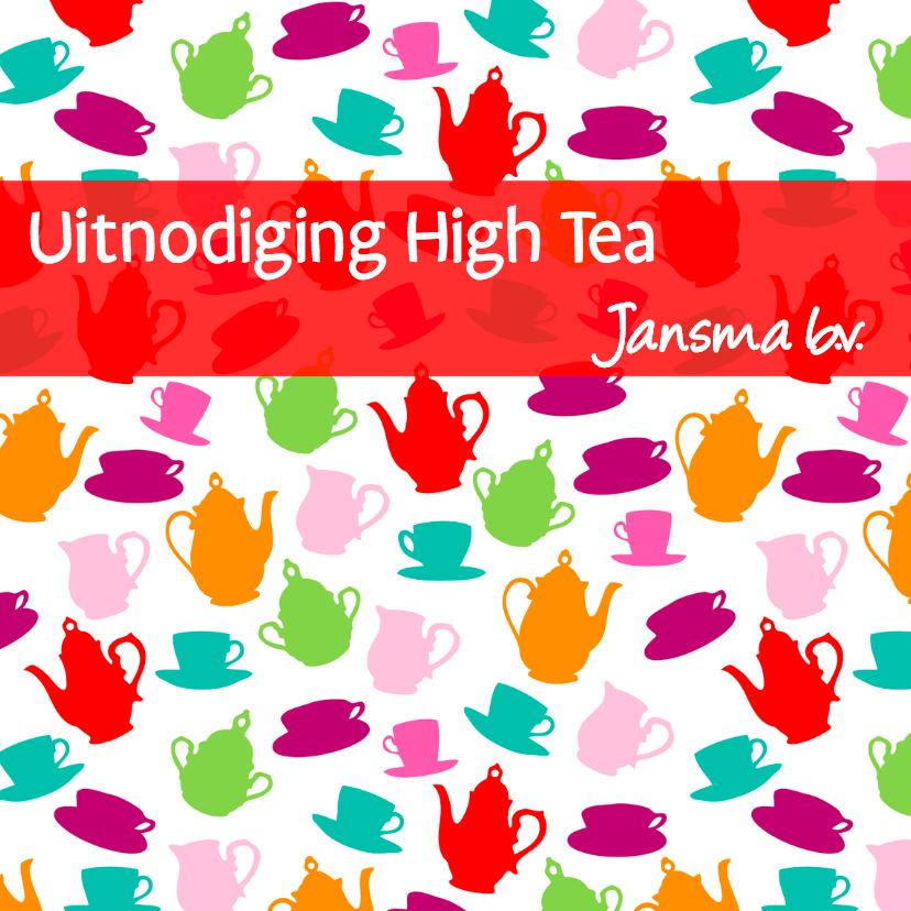 Uitnodigingen - Uitnodiging High Tea Bedrijfsuitje