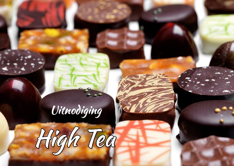 Uitnodiging - High Tea - Bonbons 1