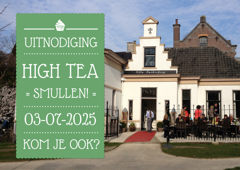 Uitnodigingen - Uitnodiging High Tea Foto