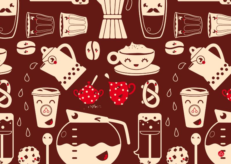 Uitnodigingen - Uitnodiging high tea - Happy coffee