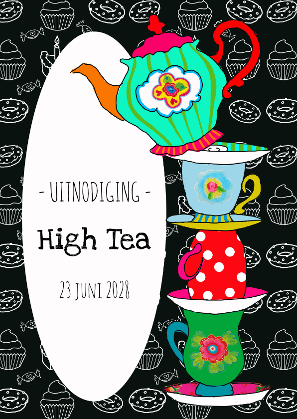 Uitnodigingen - Uitnodiging High Tea PA