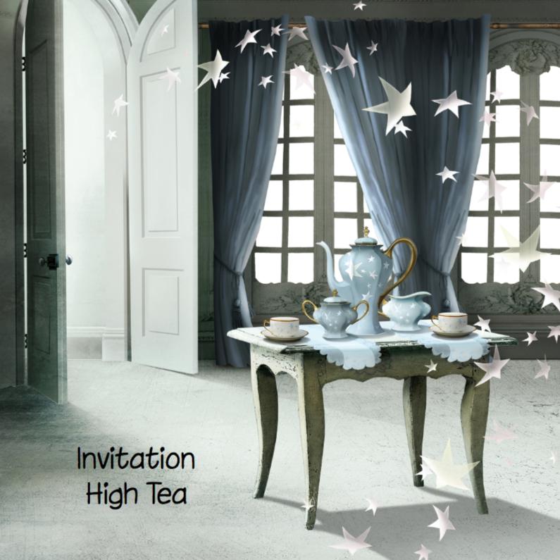Uitnodigingen - Uitnodiging High Tea Scrapbook 5