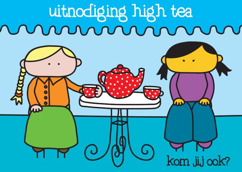Uitnodigingen - Uitnodiging High Tea Tafeltje