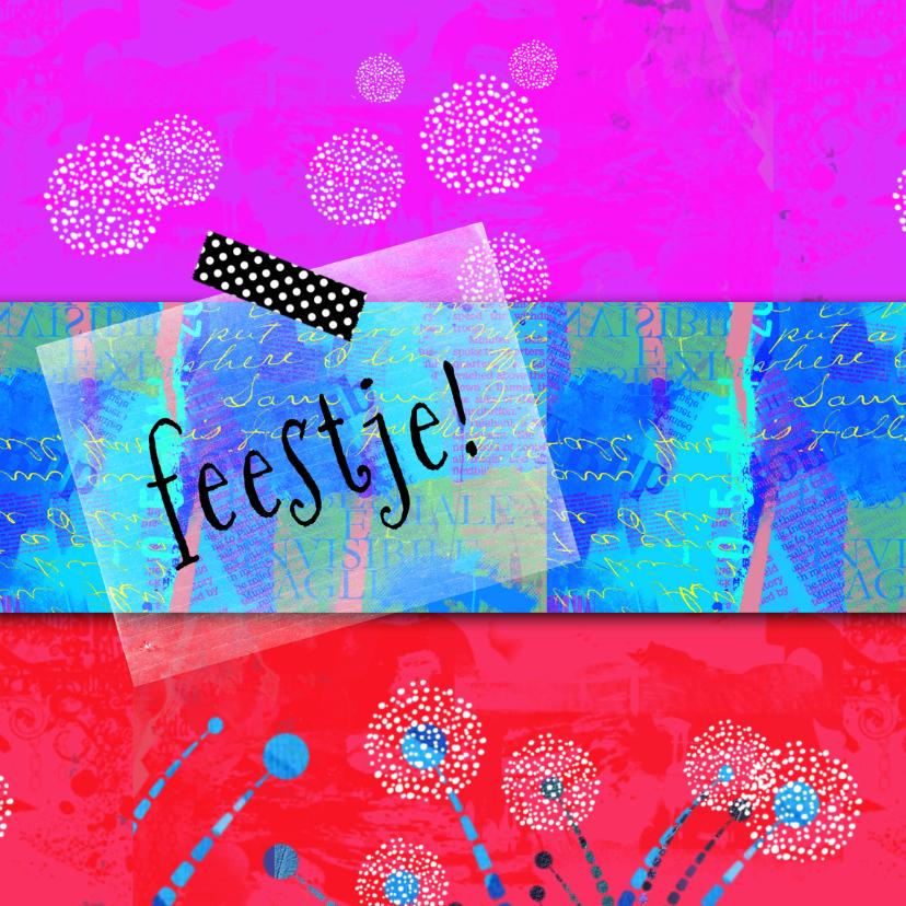 Uitnodigingen - Uitnodiging-hip en kleurrijk-ip