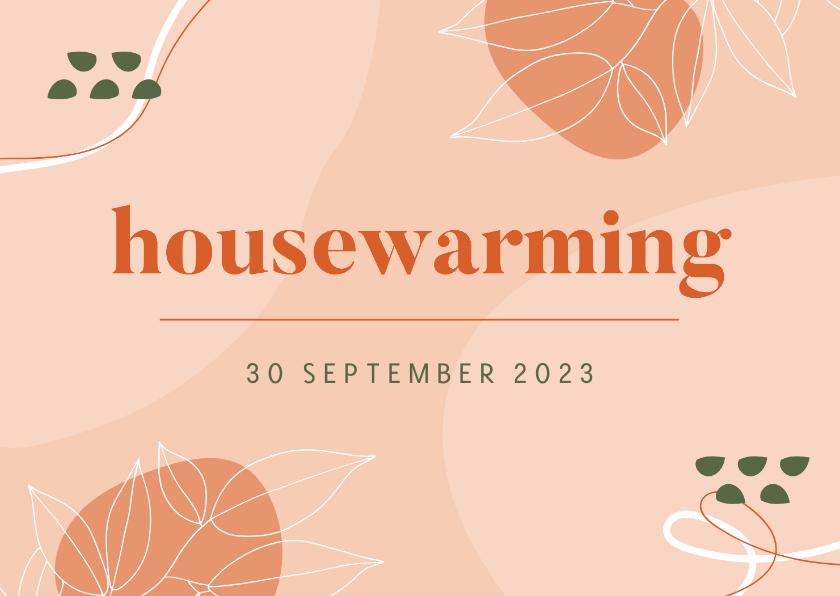 Uitnodigingen - Uitnodiging housewarming abstract