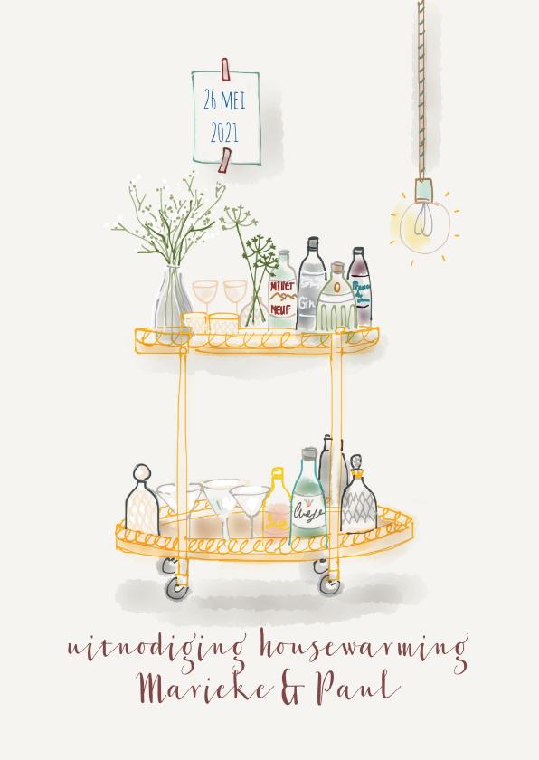 Uitnodigingen - Uitnodiging Housewarming Cheers