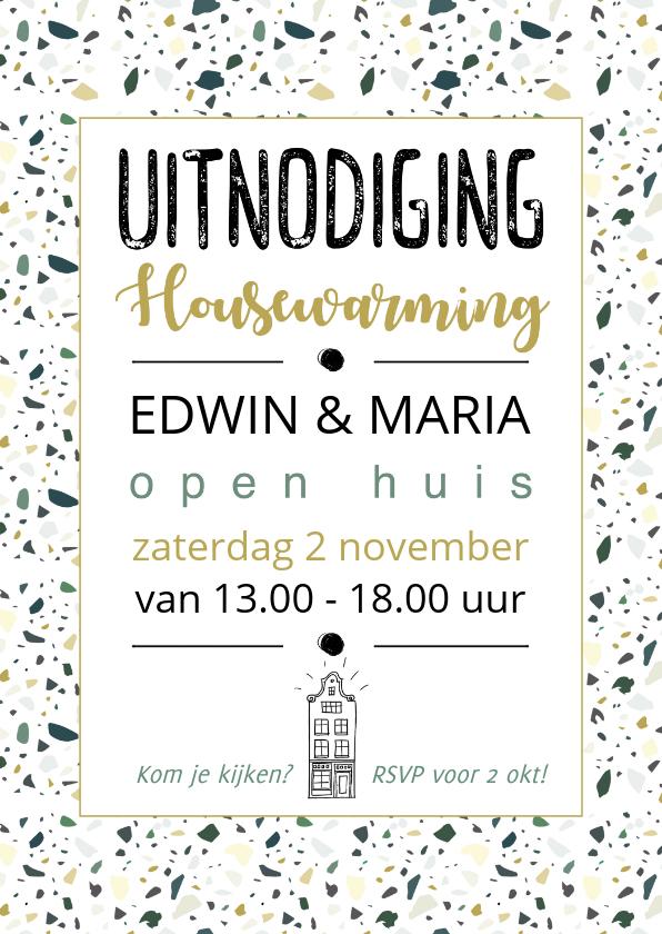 Uitnodigingen - Uitnodiging housewarming terrazzo
