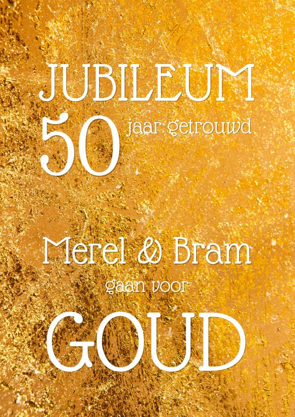 Uitnodigingen - Uitnodiging jubileum goud - OT