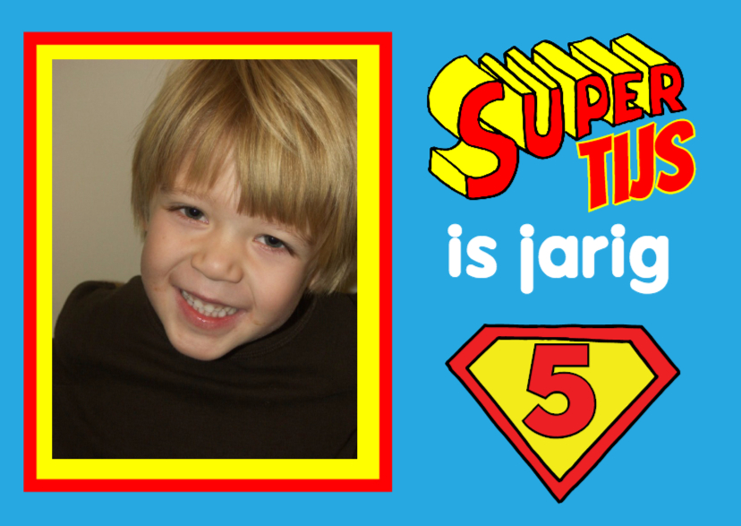 Uitnodigingen - uitnodiging kinderfeest superman